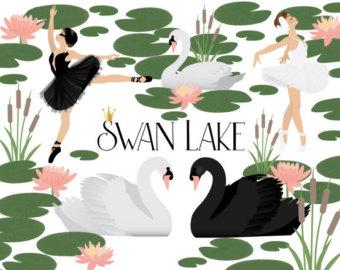 Black Swan clipart animal Etsy clipart SWAN LAKE CLIPART