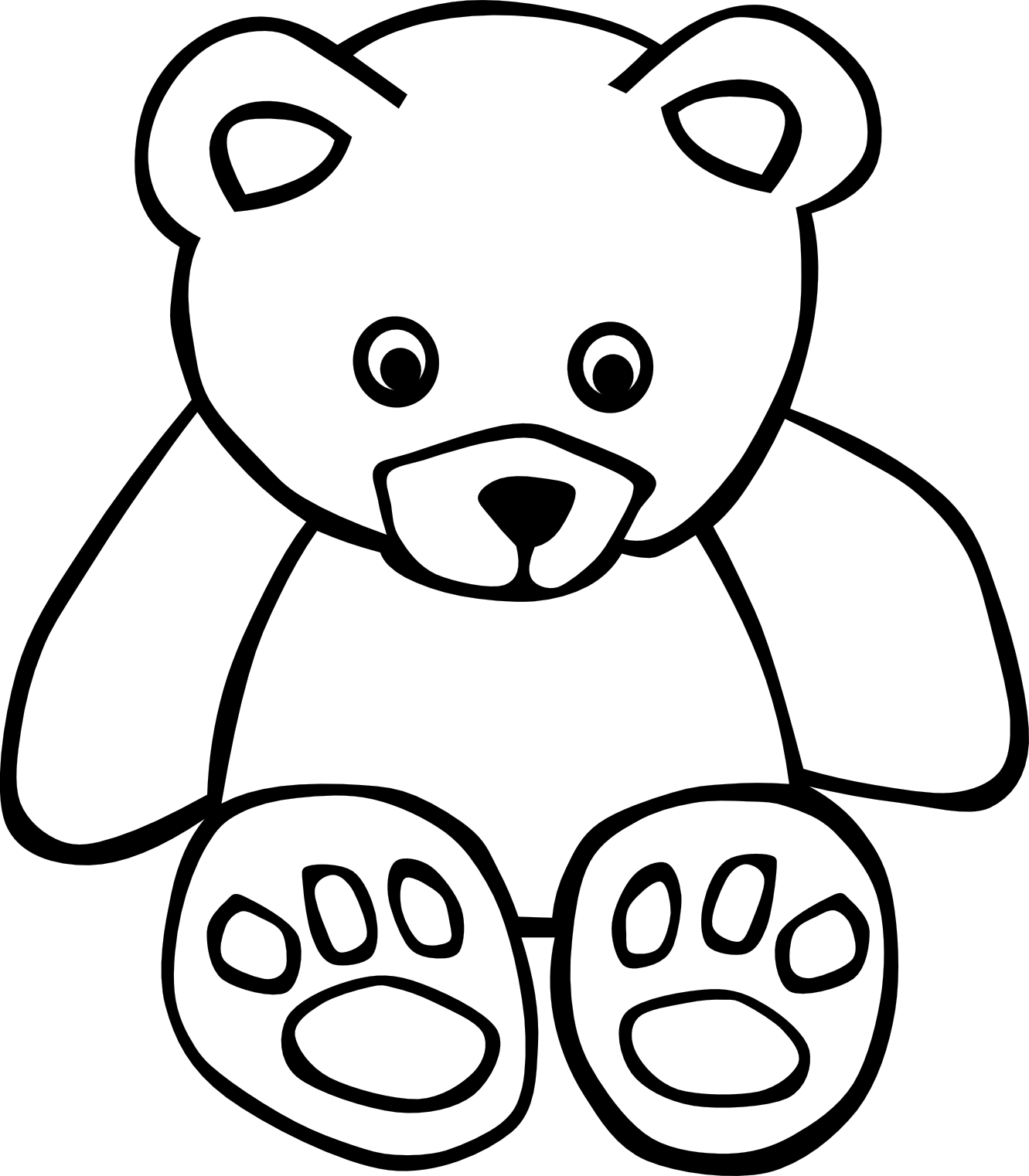 Black & White clipart Images Free Panda Clipart White