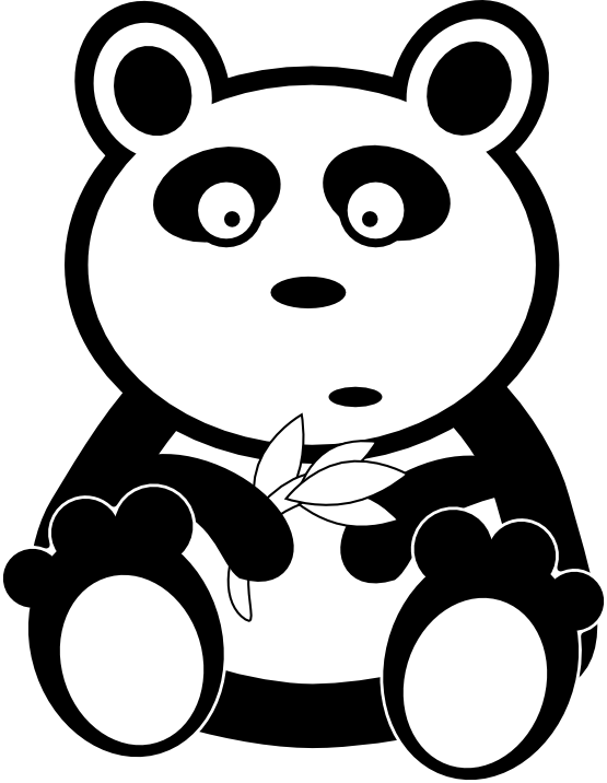 Drawn panda cute lil Clipart Bear White Panda Clipart