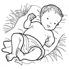 Black & White clipart baby jesus Collection baby Images jesus clipart