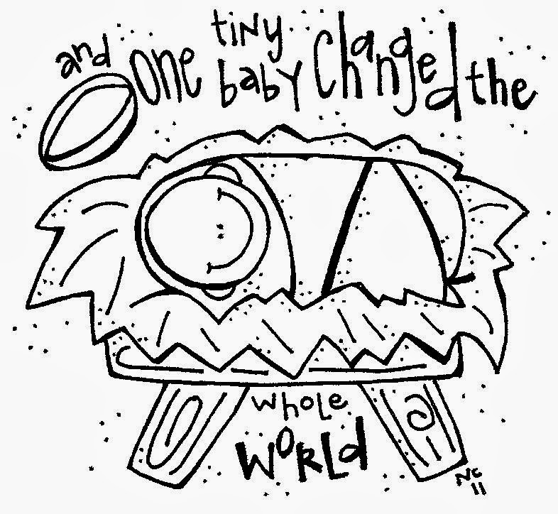 Black & White clipart baby jesus Art fans clip and Baby