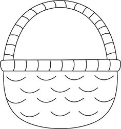 Basket clipart black and white Easter Black  And Black