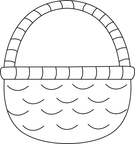 Basket clipart black and white And Easter White And Black