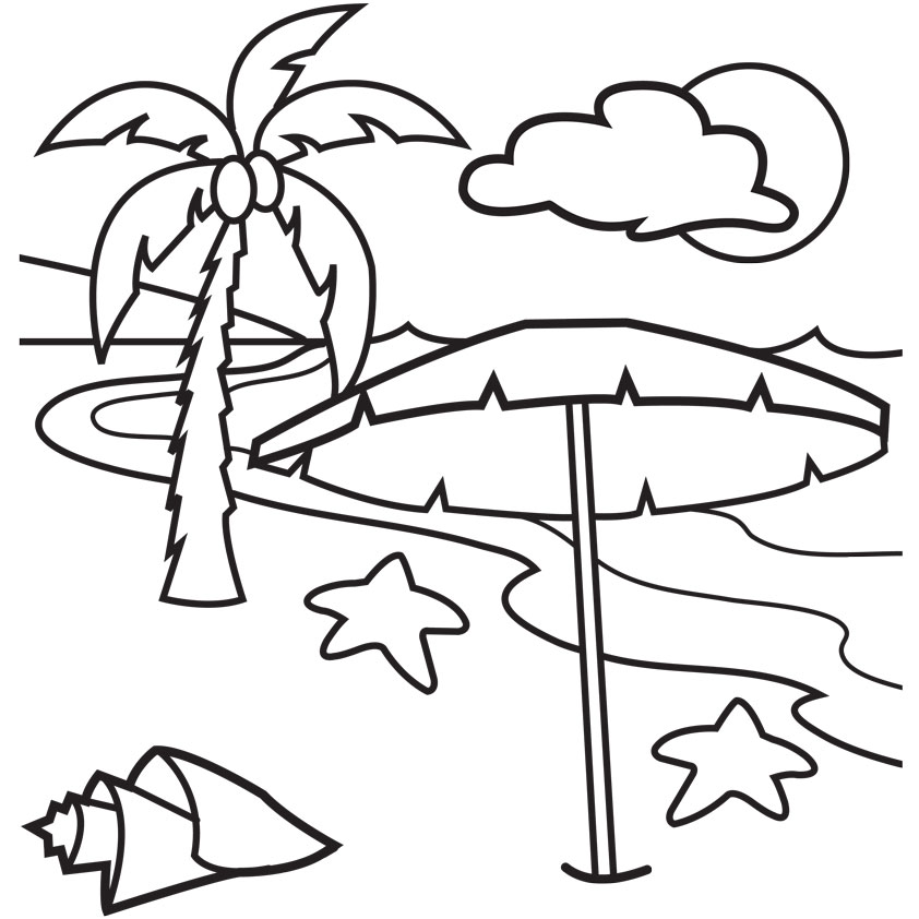 Drawn beach Clipart clipart beach Color scene