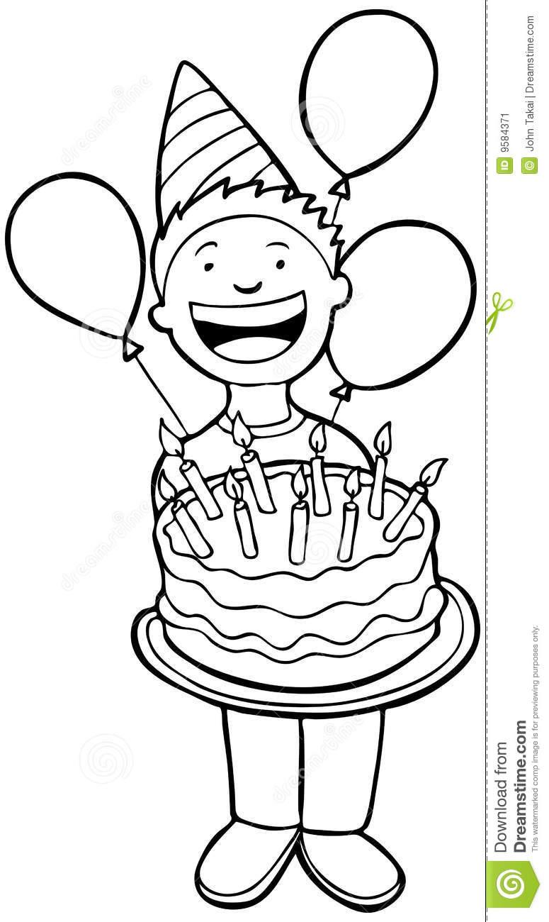 Black & White clipart birthday Birthday black Clip And White