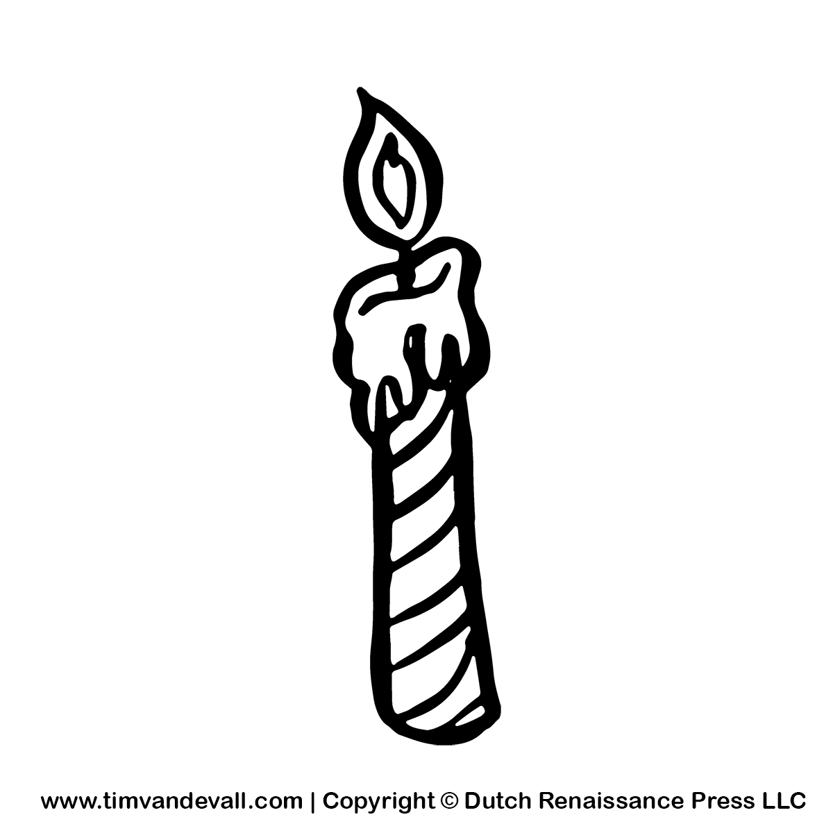Black & White clipart candle White gif birthday candle clipart
