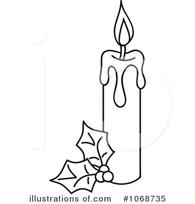 Black & White clipart candle By Christmas Stock Piter Candle