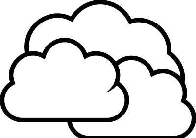 Clouds clipart retro Art And on White Clipart