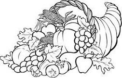 Cornucopia clipart cranberry Thanksgiving Clip Cornucopia Cliparts Clipart