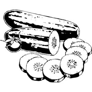 Cucumber clipart pickled pepper Cucumber vegetable clipart ClipartAndScrap cucumberclipart