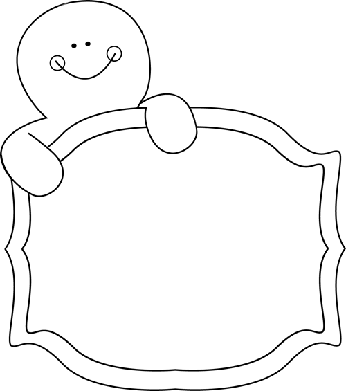 Black & White clipart gingerbread And and Gingerbread Clip Black