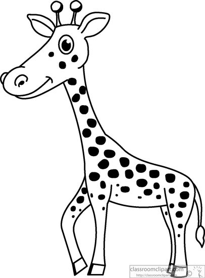 Black & White clipart hindu wedding White black and Animals giraffe