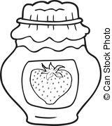 Black & White clipart jam Jam Clipart cartoon jar