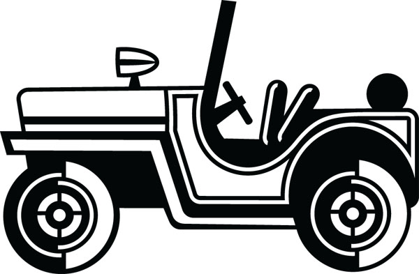 Black & White clipart jeep & Jeep1 Products Art Clip