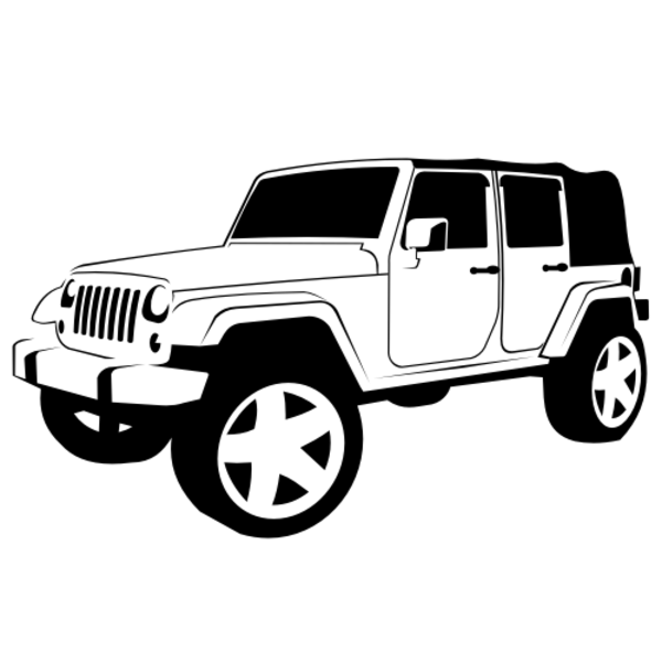 Black & White clipart jeep Art Cliparts Jeep Free And