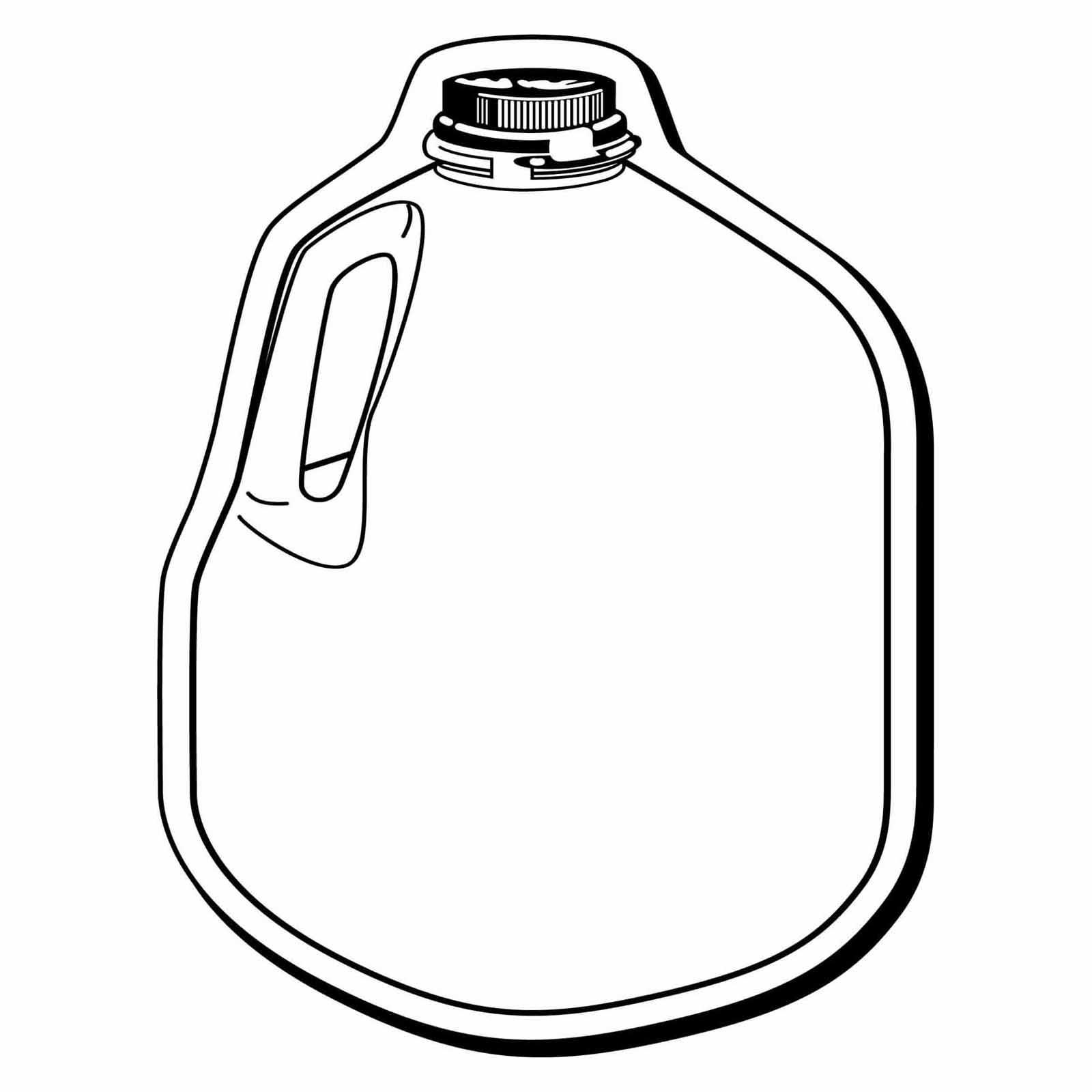 Milk Jug clipart gallon water Black and Milk black white