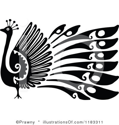 Black & White clipart peacock And Clipart clipart Images Clipart