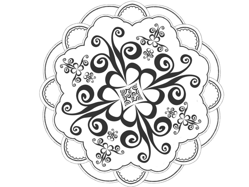 Black & White clipart rangoli Design Art Rangoli Download Design