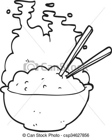 Rice clipart white background Of white cartoon Vector Vector