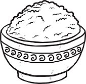 Rice clipart white background Rice rice in Vector Rice