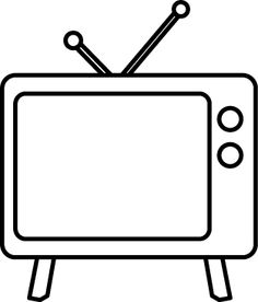 Black & White clipart television And Tv Tv Black And