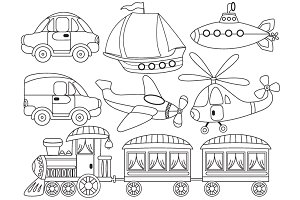 Black & White clipart transport White Illustrations Transport ~ and
