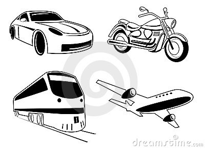 Black & White clipart transport Black collection And clipart white