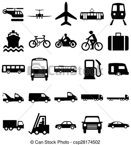Black & White clipart transport Csp28174502 and Vector Black Related