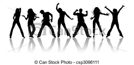 Black & White clipart youth Free Art Black youth silhouettes