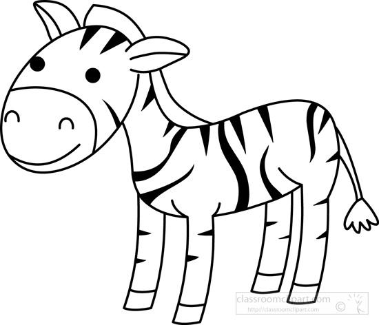Zebra clipart zebra animal · : outline outline animals