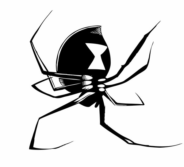 Drawn spider aqua V3 library Black Clipart Free