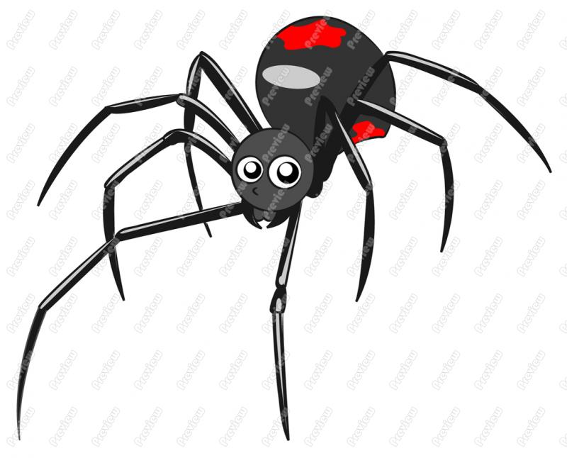 Black Widow clipart animated Widow cliparts Echidna Clipart Mythology