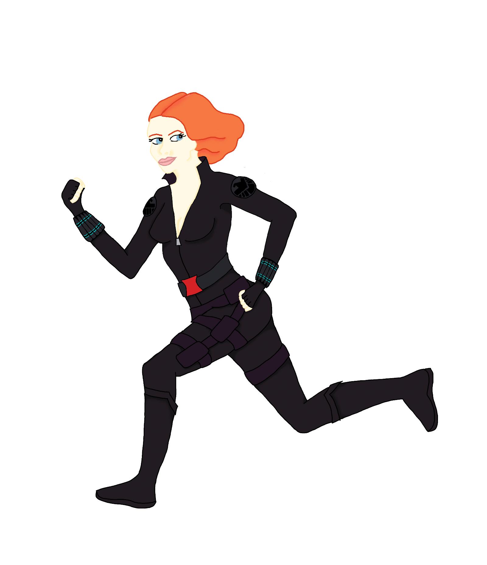 Black Widow clipart cartoon Clipart Black Widow Cartoon Avengers