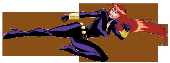 Black Widow clipart superhero Heroes Widow Swing Black Kick