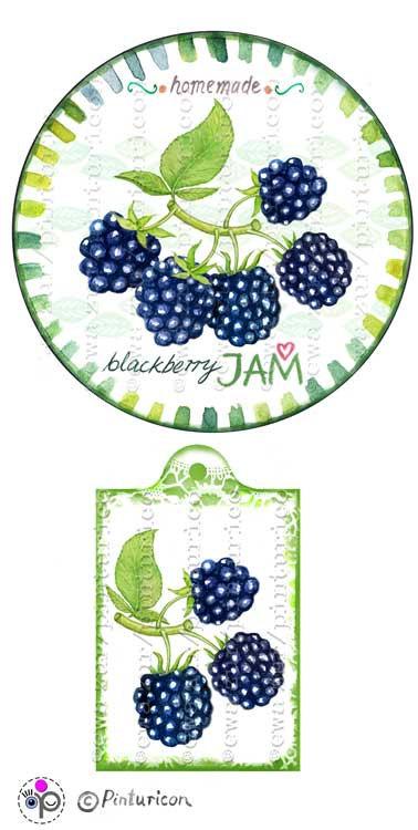 Jam clipart jar lid Blackberry jam blackberry mason