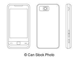 Blackberry clipart cell phone EPS Art Clip Blackberry Cellphone