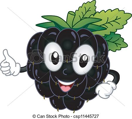Blackberry clipart more Vector  csp11445727 Illustration Mascot