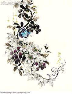 Blackberry clipart more Blackberry on tattoo? Royalty Butterflies