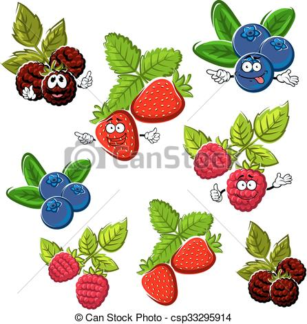 Blueberry clipart blackberry fruit Vector Strawberry raspberry and raspberry