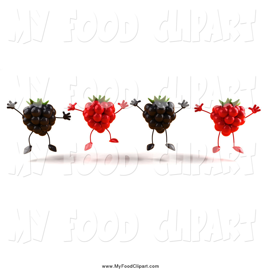 Raspberry clipart blackberry Art and Food 3d Food