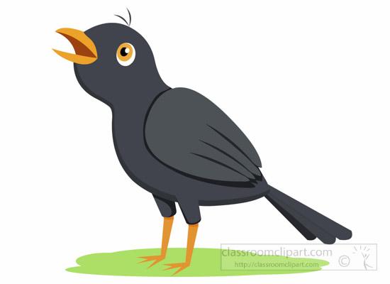 Bulbul clipart 1014 jpg : singing blackbird