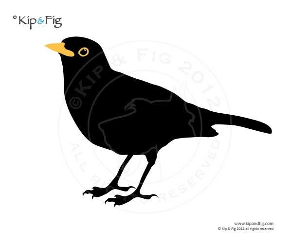Blackbird clipart Clipart applique applique blackbird Blackbird