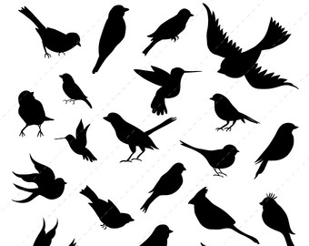 Blackbird clipart bird silhouette Commercial Download silhouette  wedding