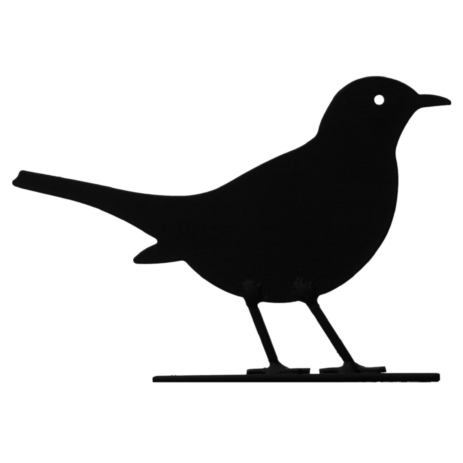 Blackbird clipart bird silhouette The Silhouette View Blue Blackbird