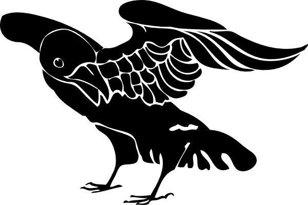 Crow clipart simple Clker Clip at Art Crow