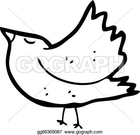 Blackbird clipart cartoon GoGraph blackbird Vector Cartoon blackbird