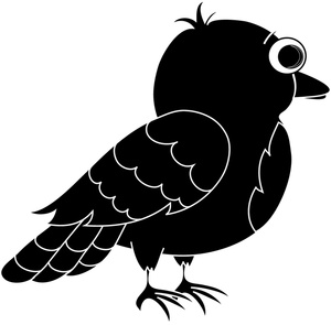 Blackbird clipart cute Cliparts Cliparts Zone Blackbird Cartoon