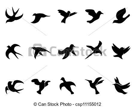 Drawn pigeon religious Illustrations Bird silhouette Illustrations Bird