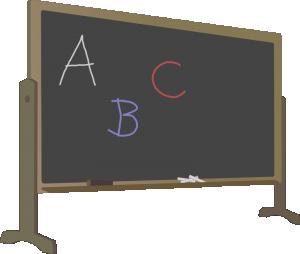 Blackboard clipart And Art Letters Blackboard Clip