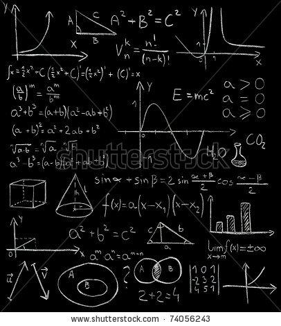 Blackboard clipart algebra equation Tafel Maths photka by a